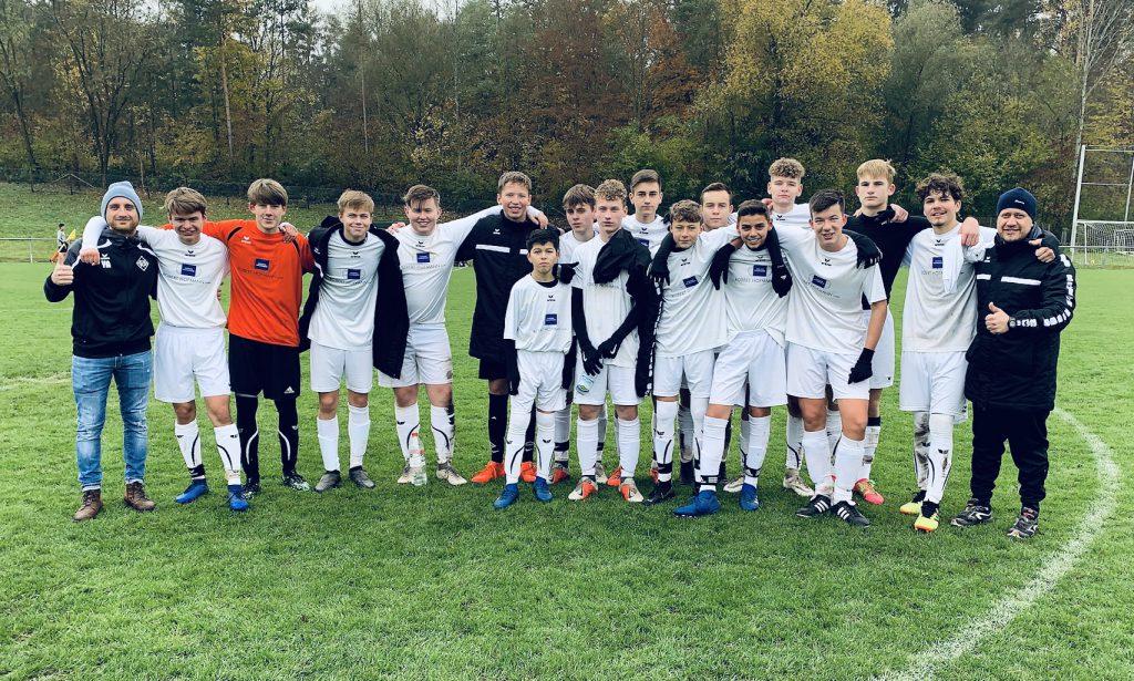 B-Jugend 2019/2020 nach dem Sieg gegen Dettenhausen